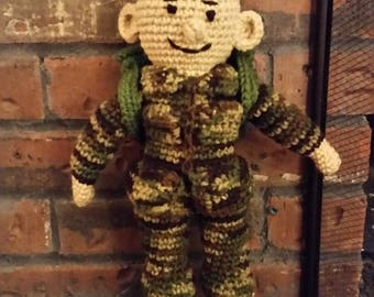 Crochet Soldier Doll