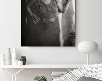 Bessie Smith Photo, Jazz Singer, Portrait, Black and White Photography, African American Art, Wall Decor, Jazz Photograph, 1936