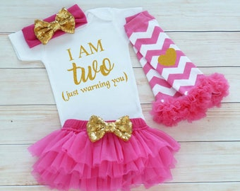 2nd Birthday Girl Outfit, Second Birthday Outfit Girl, 2nd Birthday Shirt, Tutu Outfit, Birthday Gift, Second Birthday Girl, 2nd Birthday