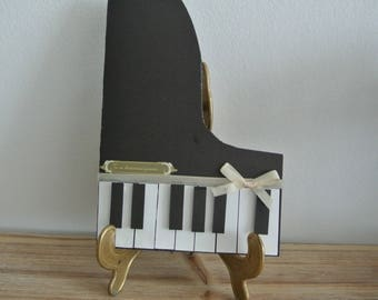 Card - Birthday card - Piano - guess