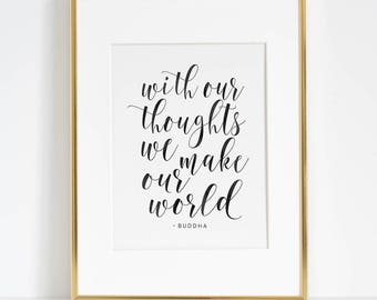 Quotes Calligraphy Gorgeous Wall Art Quotes  Etsy