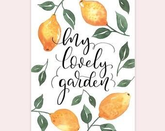 """ARTPRINT A4 """"My Lovely Garden"""""""