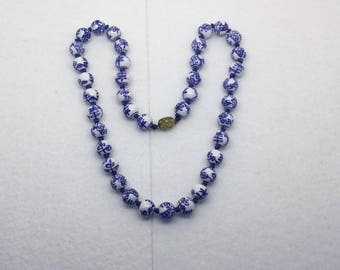 Chinese pottery Shou bead necklace