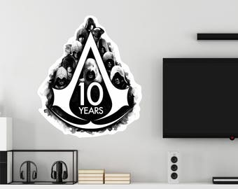 Assassin's Creed 10 Years Wall Decal Officially Licensed by Ubisoft