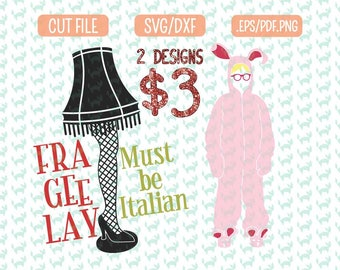 Fra-Gee-Lay Christmas Story SVG bundle, DXF, EPS, png Files for Cutting Machines Cameo or Cricut - fragile Svg, Christmas Shirt