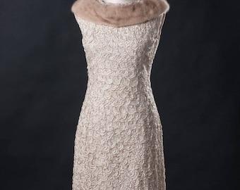 Fur Mini Wedding Dress