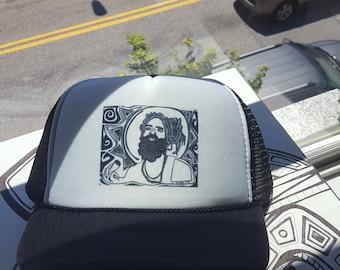Rasta Man Original Art Trucker Hat