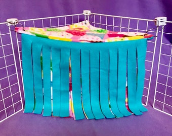 Ready to Ship Reversible Double Layer Cupcake Corner Fleece Forest! For Guinea Pigs, Hedgehogs, Rats, Ferrets, Small Animals!