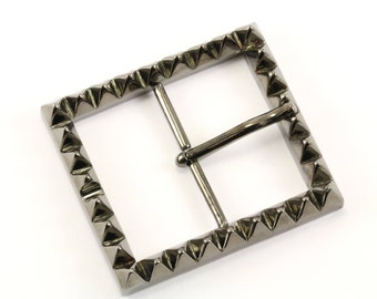 Eddie Borgo Man Black Pyramid Design Belt Buckle  925 Sterling OT 172-E