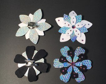 Holographic Flower Hair Clip  | Rave Accessories | Hair Accessories | Iridescent | Burning Man