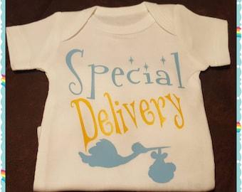 Special Delivery, Birth Announcement, Coming Home, Baby Shower, Preemie, Newborn, 0-3 Months, Bodysuit, Onesie