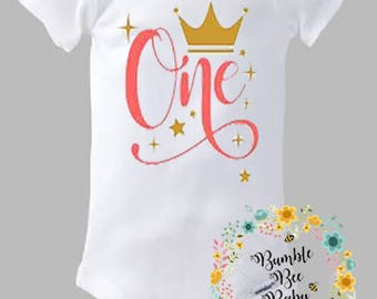 First Birthday thru 10th Birthday (Can Also Design 1/2 Birthday) - Onesie or Tee