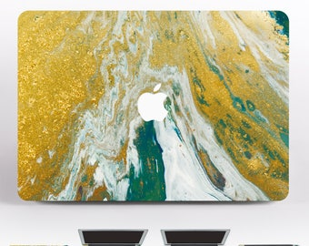 Gold Marble Laptop Sleeve MacBook Air 13 Marble Laptop Case Mac Pro 15 2016 Case Green 2016 MacBook Pro Skin White Keyboard Stickers DR060