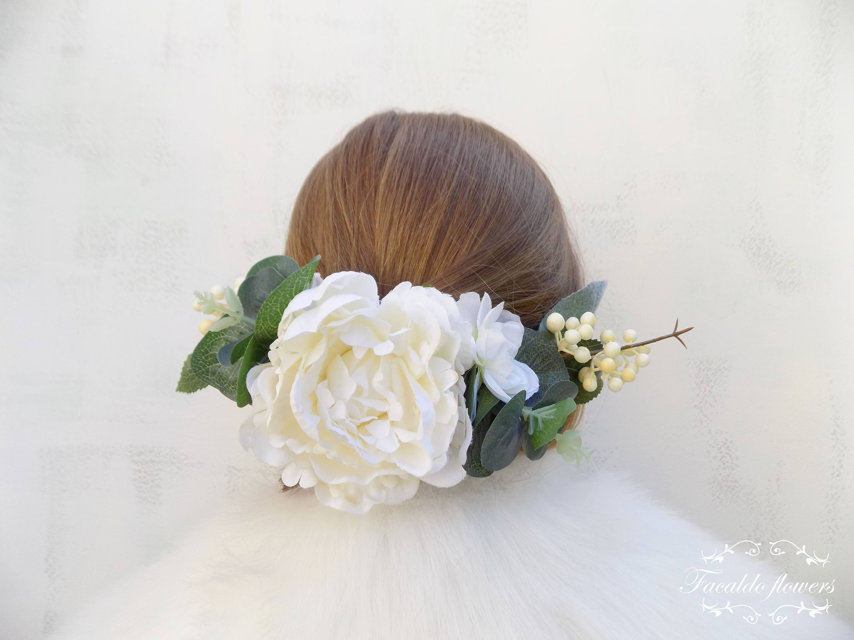 Bridal Headpiece Hair Piece Side Decor Flower Crown Rustic Boho