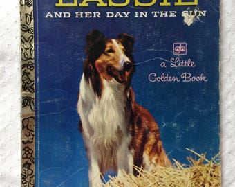 Lassie and Her Day in the Sun - vintage 1986 Little Golden Book