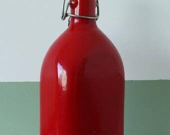 CAO Red metal flask - vintage