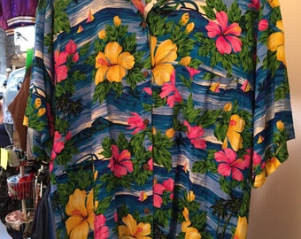 Vintage 80s Carway Tropicals Shirt