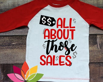 Black Friday Shopping SVG, All About Those Sales, Money Sign cut file for silhouette cameo and cricut