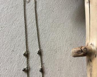 Silver Chain w/ pyrite beads