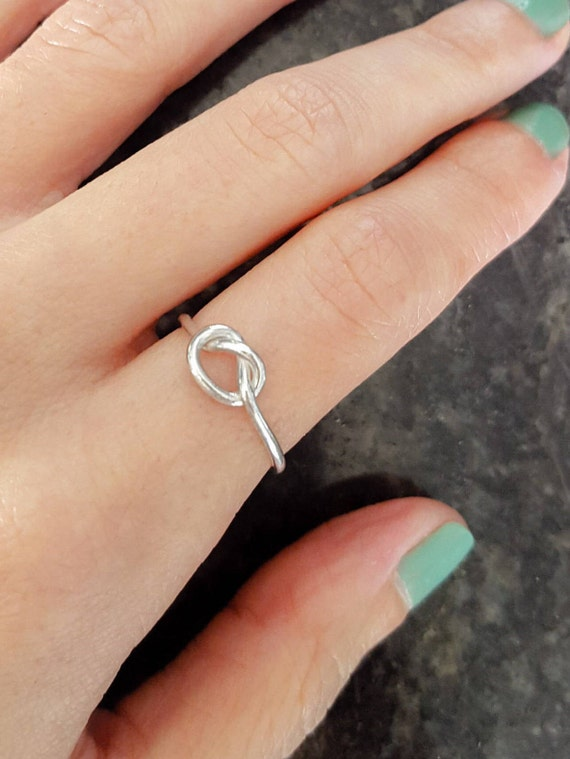 Etsy sterling silver knot ring