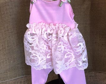 Slinky & Lacy Pink 2-Pc Pajama Set  - For 18 inch Doll Fits American Girl size dolls