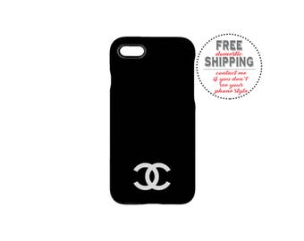 Double C Phone Case - iPhone7/7 Plus/6/6S/6 Plus/5/5S/5C/4/4S Samsung Galaxy S7/S6/S5/S4/S3 Edge S7/S6 - Hard Case-Chanel Phone Case