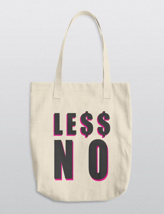 LESS NO | LA Apparel E549 Bull Denim Woven Cotton Tote