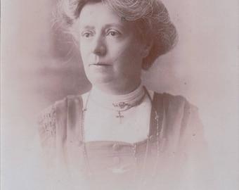 Studio Photograph Portrait of a Elderly Woman. - Postcard - Blank Written on