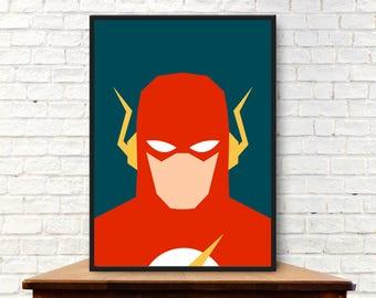 Minimalist The Flash Poster Minimalist Flash Print Flash Wall Art Flash Gift Flash Art Flash Wall Decor Flash Decor Barry Allen Poster Art