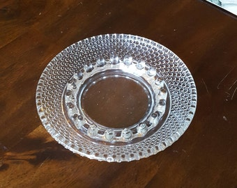 """Vintage Anchor Hocking 6.25"""" SURE SNUFF Clear Pronged Multi-Rest Glass Ashtray"""