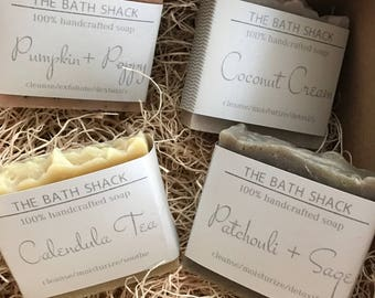 100% handcrafted Bar Soap- Made to order in small batches - set of 4