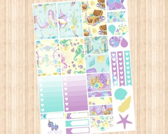 Mermaid Queen Weekly Kit // Happy Planner // Erin Condren // Personal