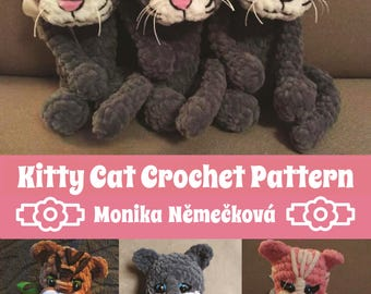 Kitty Cat Crochet Pattern. Step by step.