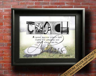 Soccer Coach Gifts For Soccer Coaches Gift Ideas, SOCCER Mom Soccer Team Soccer Party Ideas, Soccer End Of Season Soccer Gift Idea PRINTABLE