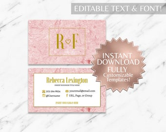 Pink|Marble Business Cards|RF Business Cards|Rodan and Fields Business Cards|Rodan and Fields|Rodan Fields|R and F Business Cards|Only