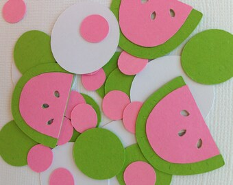Watermelon confetti pink and light green