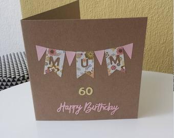 personalised birthday card mum // mum 40th card // mum 50th card // mum 60th card // mum 70th card // mum 80th card // for mum // for mom