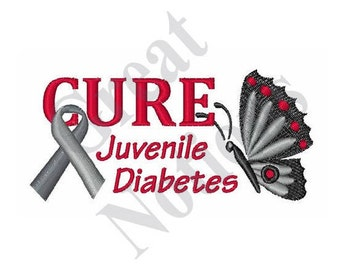 Cure Juvenile Diabetes - Machine Embroidery Design