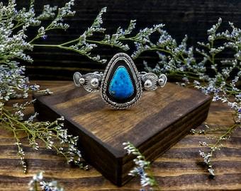 Turquoise Cuff Bracelet / Silver Cuff / Southwest Cuff / Heirloom Jewelry / Bohemian Cuff / OOAK Cuff / Unique Cuff / Turquoise Bracelet