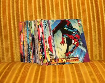 Spider Man 1994 Card Set MARVEL SPIDERMAN Base Set Venom Funeral The Punisher Todd McFarlane 1990s Comic Book Comics Art