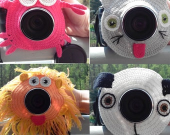 Camera Lens Toy,Crochet lady bug lens critter,camera buddies,camera lens buddy,toys,photo helper,Children's Photo Props,Photographer gift