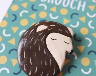 Handmade Hedgehog Brooch