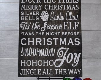 Christmas Sign,Christmas Decor,Christmas Wood Sign,Holidays,Subway Art,Christmas Decoration,Holiday Decor, Wood Sign