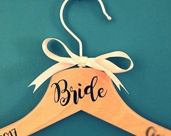 Bride Hanger | Wedding Dress Hanger| Wedding Gift Idea | Bridal Hanger | Pretty Little Pressies | Clothes Hanger | Bridesmaid