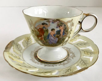 Vintage Royal Halsey Very Fine Chrub Lusterware Teacup and Matching Saucer