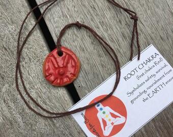 Healing Root Chakra Pendant Necklace