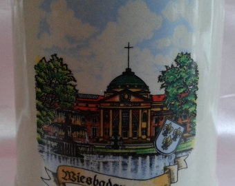 Biesbaden Kurhaus West Germany Gerz 0.5 liter Beer Mug