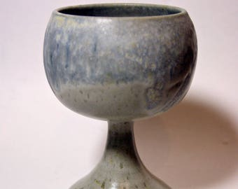 rare ceramics goblet,pottery wineglass,wedding gift