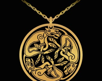 Stunning Celtic Cats Necklace