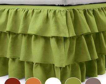 Pleated Bedskirt Etsy
